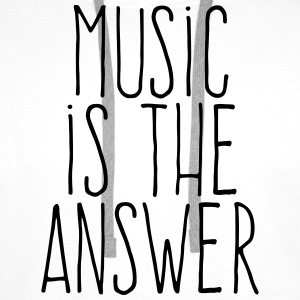 music is the answer Shirts - Men's Premium Hoodie