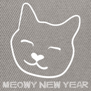 MEOWY NEW YEAR - Frohes Neues Jahr T-Shirts - Snapback Cap