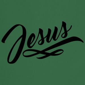 texte lettrage jésus christ de conception de logo  Tee shirts - Tablier de cuisine