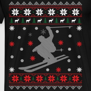 Skiturer - ugly Christmas Gensere - Premium T-skjorte for menn