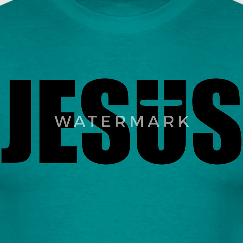 tekst skriften jesus kristus cool design cross log T-shirts - Herre-T-shirt