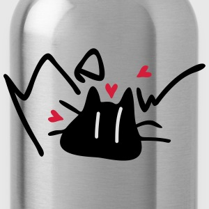 meow cat typo pet Winter Hat - Water Bottle