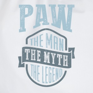 Paw The Man The Myth | T-shirt Gift! - Drawstring Bag