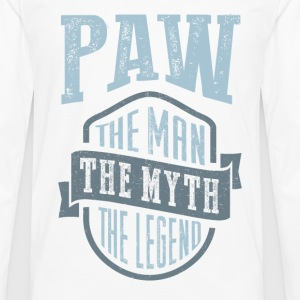 Paw The Man The Myth | T-shirt Gift! - Men's Premium Longsleeve Shirt