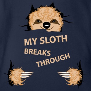 my sloth breaks trouth Shirts - Organic Short-sleeved Baby Bodysuit