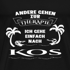 Kos holiday - therapy- Long Sleeve Shirts - Men's Premium T-Shirt