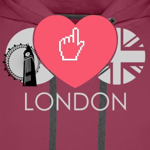 IN LOVE WITH LONDON T-Shirts - Männer Premium Hoodie