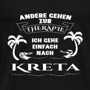 Crete - therapy - holiday Long Sleeve Shirts - Men's Premium T-Shirt