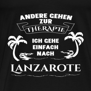 Lanzarote - therapy - holiday Tops - Men's Premium T-Shirt