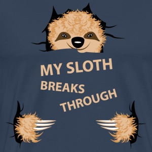my sloth breaks trouth Manches longues - T-shirt Premium Homme