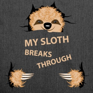 my sloth breaks trouth Sports wear - Shoulder Bag made from recycled material