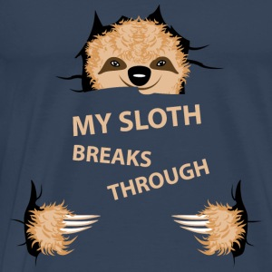 my sloth breaks trouth Toppar - Premium-T-shirt herr