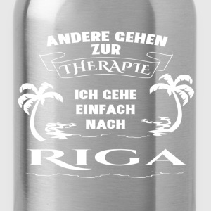 Riga - therapy - holiday Hoodies & Sweatshirts - Water Bottle