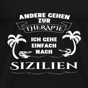 Sicily - therapy - holiday Long Sleeve Shirts - Men's Premium T-Shirt