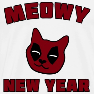 MEOWY NEW YEAR DEADPOOL Tops - Männer Premium T-Shirt