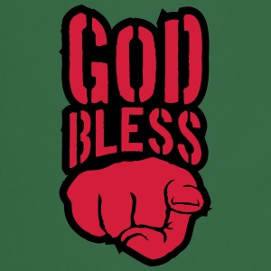 Bless god bless you finger show hand funny god jes T-Shirts - Cooking Apron