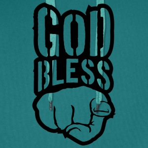 Bless god bless you finger show hand funny god jes T-Shirts - Men's Premium Hoodie