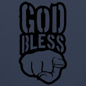 Bless god bless you finger show hand funny god jes T-Shirts - Men's Premium Tank Top