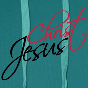 Christian cool logo design text jesus christ T-Shirts - Men's Premium Hoodie