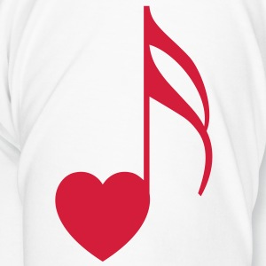 Lover of Music - Red Note (RH) - Men's Premium T-Shirt