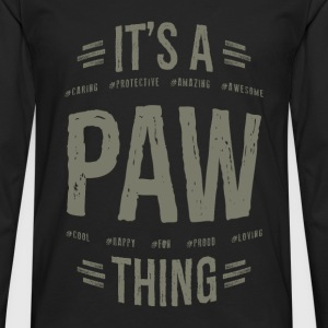 Paw T-shirts Gifts - Men's Premium Longsleeve Shirt