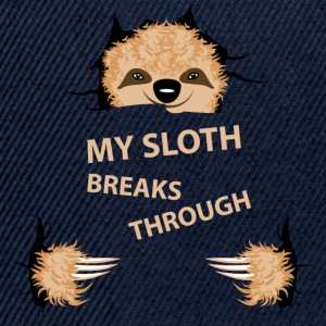 my sloth breaks trouth - Snapback Cap