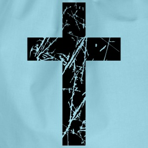 Crosses scratches old text jesus christ cool logo  T-Shirts - Drawstring Bag