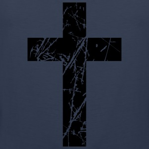 Crosses scratches old text jesus christ cool logo  T-Shirts - Men's Premium Tank Top