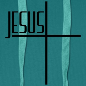 Cross logo design cool text lettering jesus christ T-Shirts - Men's Premium Hoodie