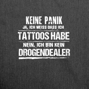 tattoos - Schultertasche aus Recycling-Material
