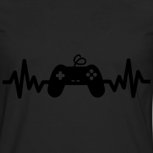 Gaming is life - geek gamer nerd game funny - Men's Premium Longsleeve Shirt
