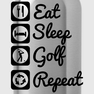 Eat,sleep,golf,repeat - Golf t-shirt  - Drinkfles