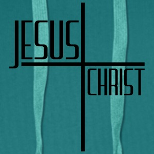 Christ cross logo design cool text jesus christ T-Shirts - Men's Premium Hoodie