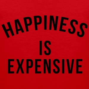 Happiness is expensive T-shirts - Mannen Premium tank top