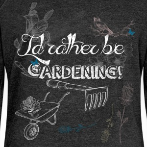 I'd rather be gardening - Women's Boat Neck Long Sleeve Top
