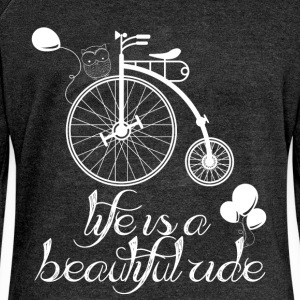 Life is a beautiful ride - Women's Boat Neck Long Sleeve Top