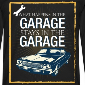 What happens in the garage stays in the garage  - Men's Premium Longsleeve Shirt