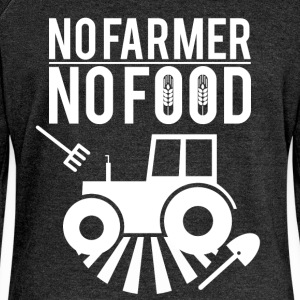 No farmer no food - Women's Boat Neck Long Sleeve Top