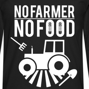 No farmer no food - Men's Premium Longsleeve Shirt