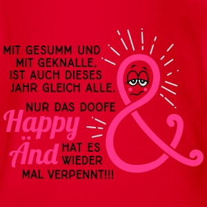 Silvester - Neujahr - Happy End - Spruch - 3C T-Shirts - Baby Bio-Kurzarm-Body