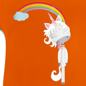 Unicorn hangs on the rainbow Shirts - Baby T-Shirt