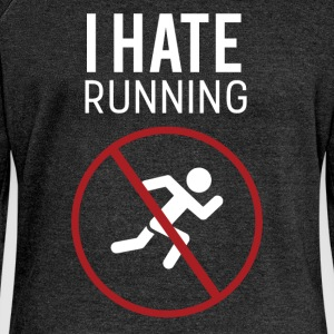 I hate running - Women's Boat Neck Long Sleeve Top