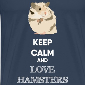 KEEP CALM AND HAMSTER Pullover & Hoodies - Männer Premium T-Shirt