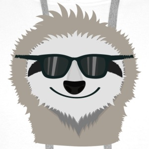 Sloth with sunglasses Shirts - Men's Premium Hoodie