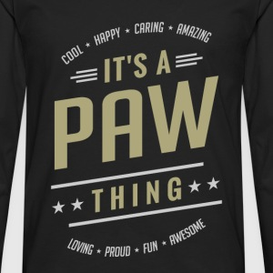It's a Paw Thing | Gift for Him! - Men's Premium Longsleeve Shirt