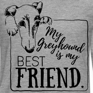 My Greyhound is my best friend Magliette - Maglietta Premium a manica lunga da uomo