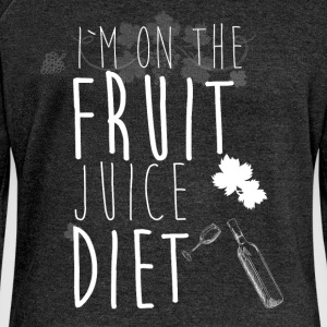 I'm on the fruit juice diet - Women's Boat Neck Long Sleeve Top
