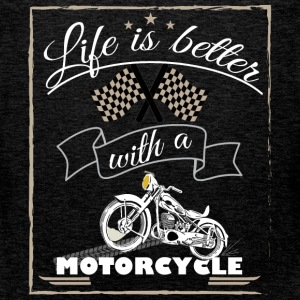 Life is better with a motorcycle - Men's Premium Tank Top