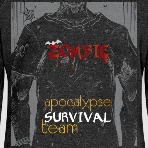 Zombie apocalypse survival team - Women's Boat Neck Long Sleeve Top
