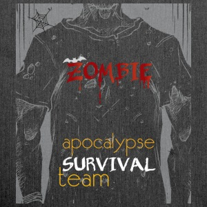 Zombie apocalypse survival team - Shoulder Bag made from recycled material